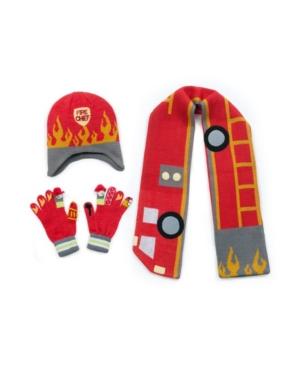 Kidorable Big Boy Fireman Knitwear Set
