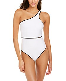 Belted Bound One-Shoulder One-Piece Swimsuit