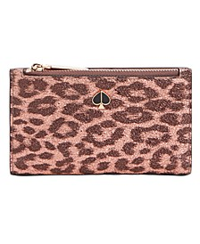 Metallic Leopard Slim Bifold Wallet