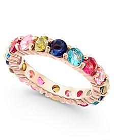 Rose Gold-Tone Multicolor Crystal Ring, Created For Macy's