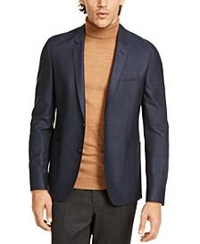 HUGO Hugo Boss Men's Slim-Fit Blue Birdseye Sport Coat