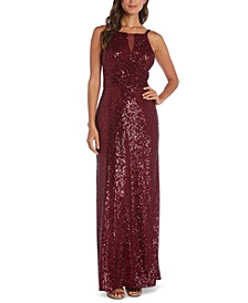 Sequin Crossover Gown