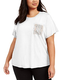Plus Size Embellished T-Shirt