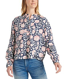 Paisley Pop-over Top