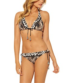 Animal-Print Bikini Top & Bottoms