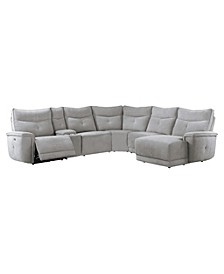 Talbot 6pc Power Recliner Sectional Sofa w/ Chaise