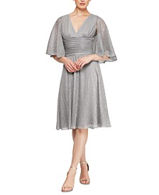 Flyaway-Sleeve Dress