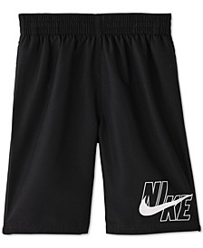 Big Boys 1-Pc. Solid Lap Volley Swim Trunks