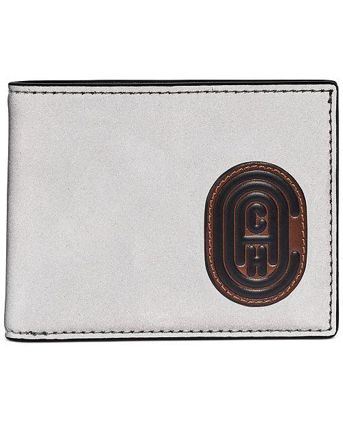 COACH Men's Logo Slim Leather Wallet