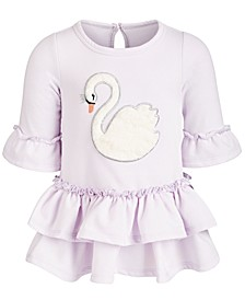 Baby Girls Swan Ruffle Dress, Created for Macy's