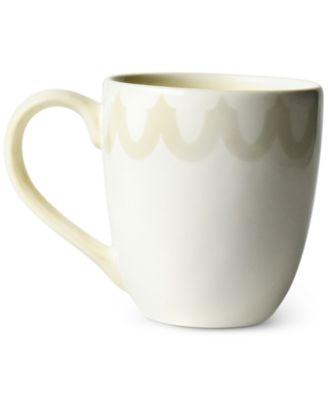 by Laura Johnson Ecru Arabesque Trim Mug