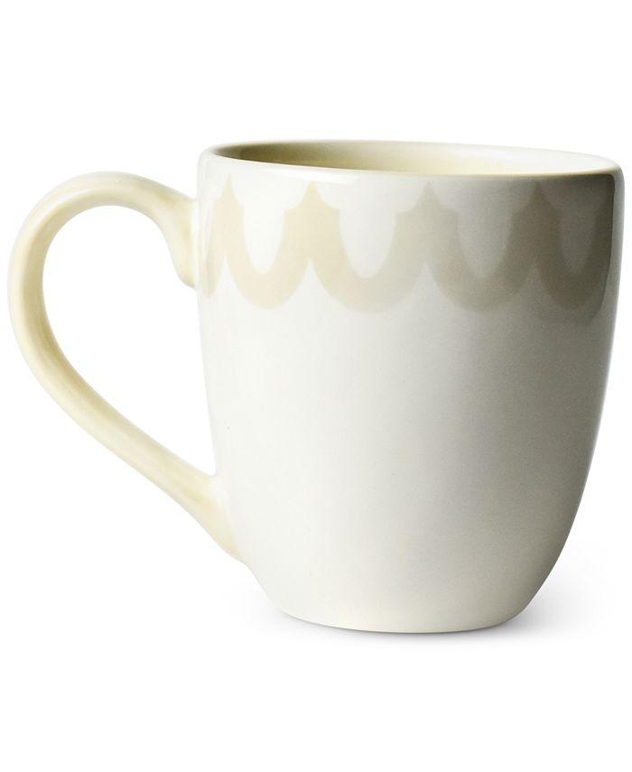 Coton Colors - Ecru Arabesque Trim Mug