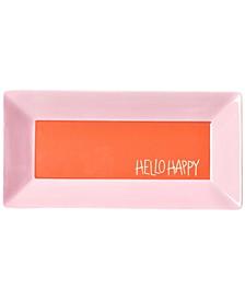 """by Laura Johnson Persimmon Color Block 11""""  Hello Happy Scoop Tray"""