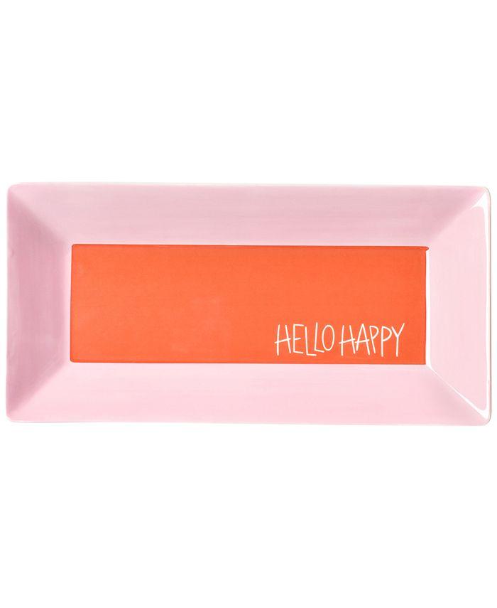 """Coton Colors - Persimmon Color Block 11"""" Hello Happy Scoop Tray"""