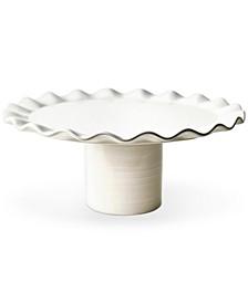 by Laura Johnson Signature White Ruffle Cake Stand