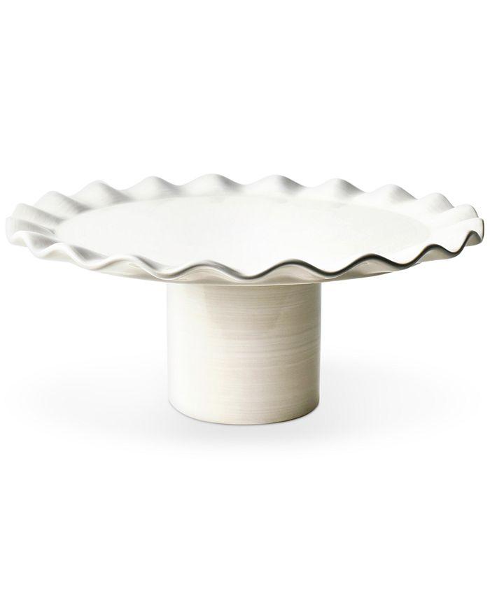 Coton Colors - Signature White Ruffle Cake Stand