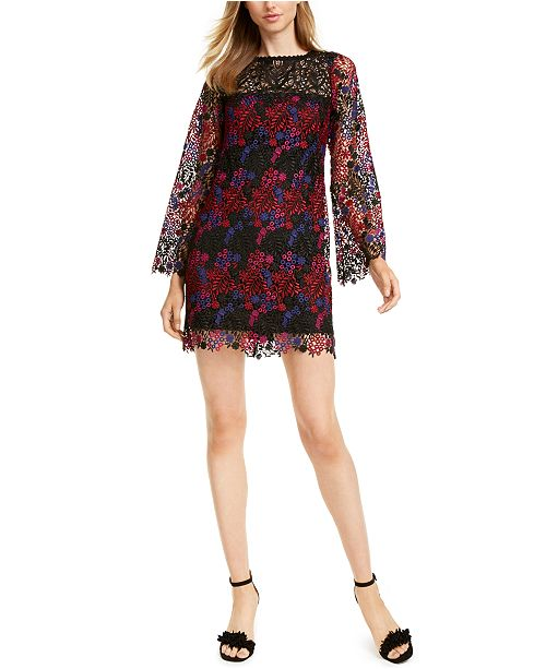 Nanette Lepore Lace Shift Dress, Created For Macy's