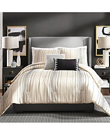 Slate Stripe King 3 Piece Comforter Set