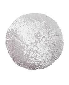 Round Crushed Velvet Macaron Decorative Pillow