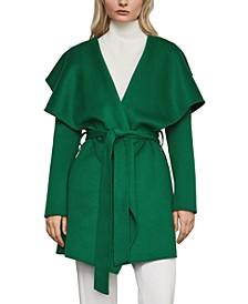 Hooded Wrap Coat