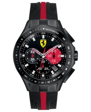 Scuderia Ferrari Watch, Men's Chronograph Race Day Black and Red Silicone Strap 44mm 830023