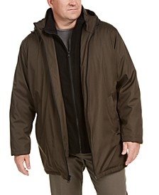 Men's Big & Tall Ripstop Jacket with Fleece Bib