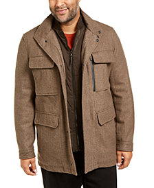 Michael Kors Men's Big & Tall Mayfield Field Coat, Created for Macy's