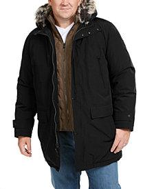 Michael Kors Men's Big & Tall Hooded Bib Snorkel Coat, Created for Macy's