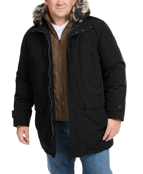 Michael Kors Michael Kors Men's Big & Tall Hooded Bib Snorkel Coat, Created for Macy's