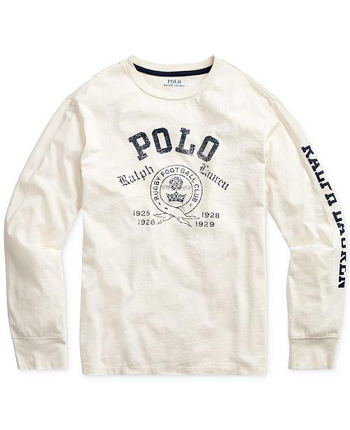 Polo Ralph Lauren Big Boys Cotton Jersey Graphic T-Shirt