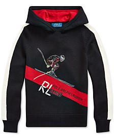 Big Boys Skier Merino Hooded Sweater, Created For Macy's