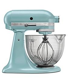 Artisan® Design Series 5 Quart Tilt-Head Stand Mixer with Glass Bowl KSM155GB