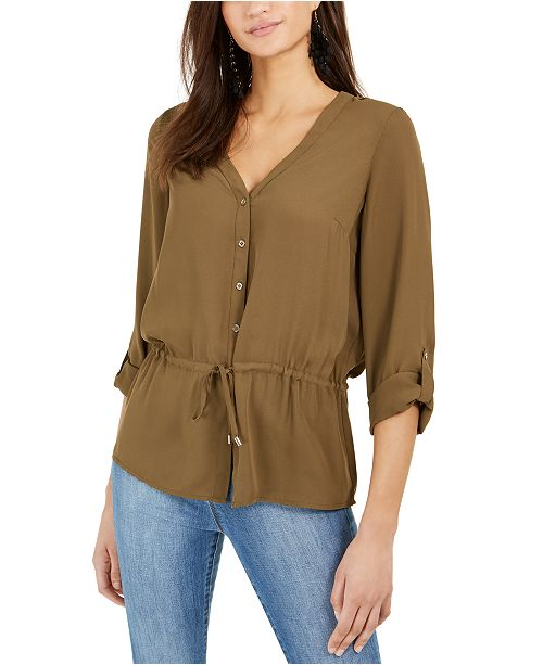 NY Collection Petite Tie-Waist Top