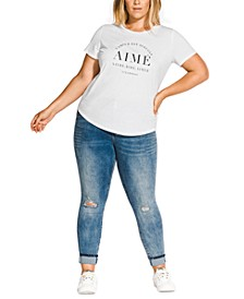 Trendy Plus Size Graphic-Print T-Shirt