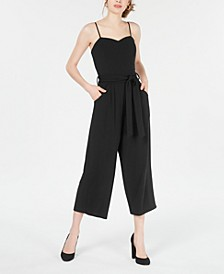 Juniors' Sweetheart-Neck Jumpsuit