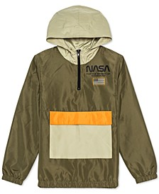 Big Boys NASA Colorblocked 1/4-Zip Hooded Anorak