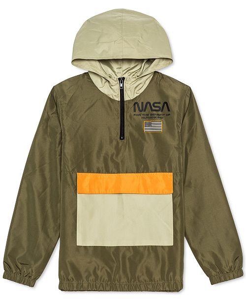 Jem Big Boys NASA Colorblocked 1/4-Zip Hooded Anorak