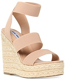 Women's Shimmy Platform Espadrille Wedge Sandals