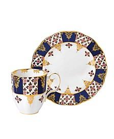 100 Years 1900 2-Piece Set, Mug & Plate -Regency Blue
