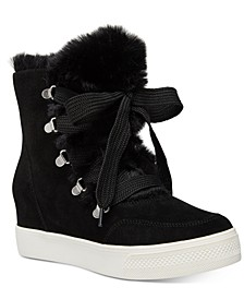 Women's Wharton Faux-Fur Wedge Booties