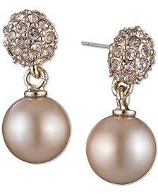 Pearl Fireball Drop Earrings