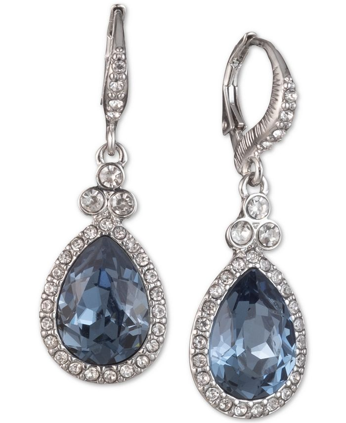 Givenchy - Pavé & Colored Stone Drop Earrings