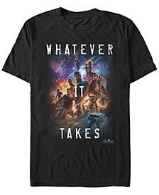 Men's Avengers Endgame Whatever It Takes Galaxy Poster, Short Sleeve T-shirt