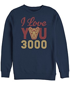 Men's Avengers Endgame I Love You 300 Arc Reactor, Crewneck Fleece