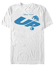 Pixar Men's Up Blue Balloon House Logo, Short Sleeve T-Shirt