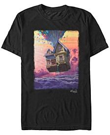 Pixar Men's Up Balloon House Cloud Portrait, Short Sleeve T-Shirt