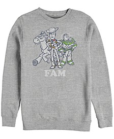 Men's Toy Story Buzz and Woody Family, Crewneck Fleece