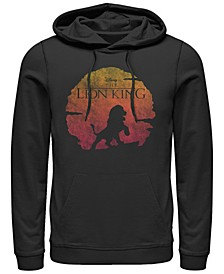 Men's Lion King Vintage Inspired Sunset Logo, Pullover Hoodie