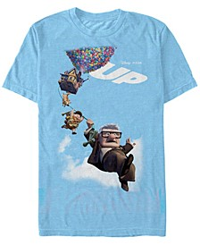 Pixar Men's Up Movie Poster Group Shot, Short Sleeve T-Shirt