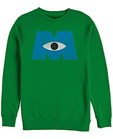 Pixar Men's Monsters Inc. Eye Logo, Crewneck Fleece